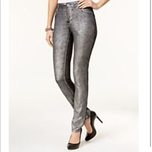 INC International Concepts Metallic Skinny Jeans
